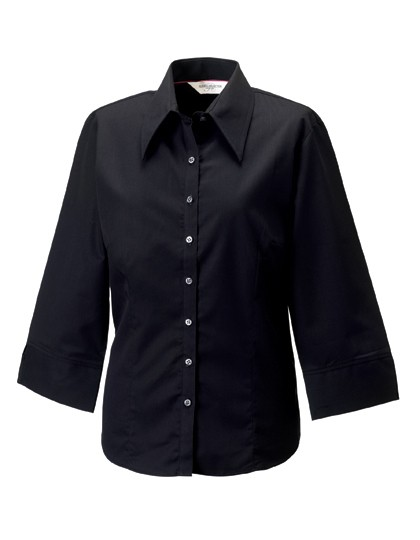 Ladies` 3/4 Sleeve Fitted Tencel® Shirt