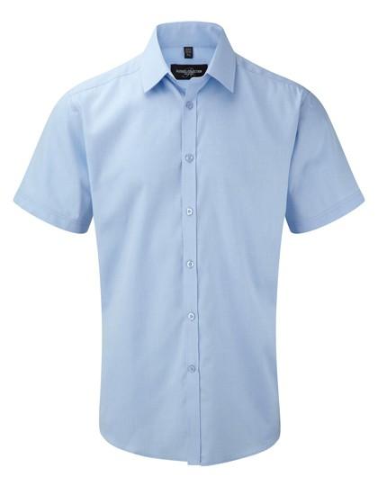 Men`s Short Sleeve Tailored Herringbone Shirt