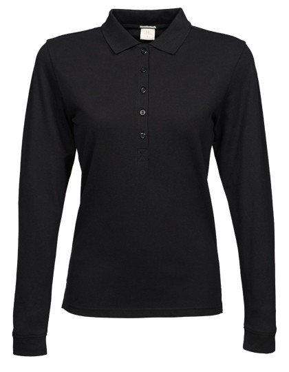 Ladies` Luxury Stretch Long Sleeve Polo