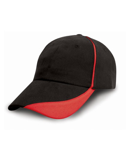 Heavy Brushed Cotton Cap with Scallop Peak and Con