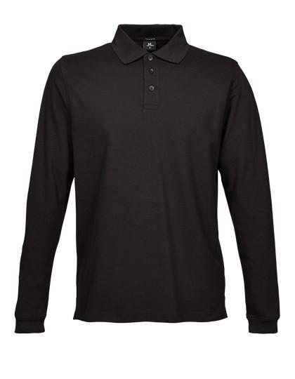 Luxury Stretch Long Sleeve Polo