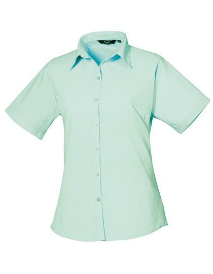 Ladies` Poplin Short Sleeve Blouse