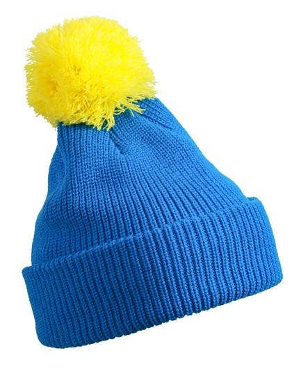 Pompon Hat with Brim