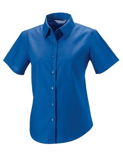 Kurzärmelige Oxford-Bluse