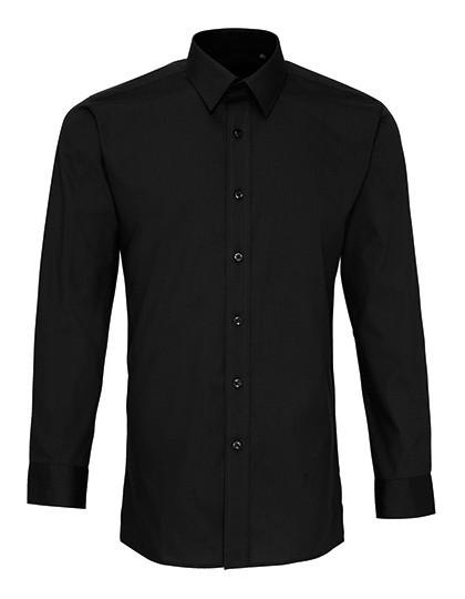 Men's Long Sleeve Fitted Poplin Shirt