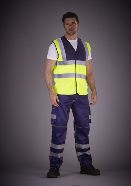 High Visibility Cargo Trousers with Knee Pad Pocke